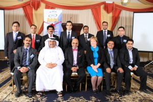 Qatar Section Officers with Delegates
