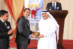 Memento handed over to President Of Qatar Society of Engineers Eng. Ahmed Jassim Al-Jolo