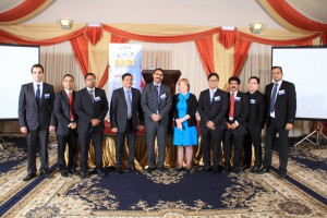 Qatar Section officers with Director Region 7 Mr. Mohammed Rafiuddin and Association President Ms. Julie Owen
