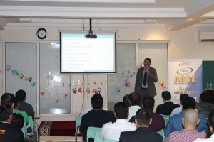 Mr. Dev Tamboli Presenting During the Workshop on ' Delay Analysis Methods-WhichOne to Choose'