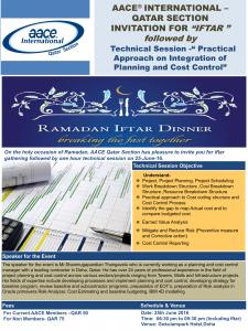 Iftar Invite & Technical Session